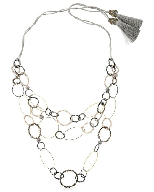 Night Market | Metallic Long Circle Necklace | Lyst