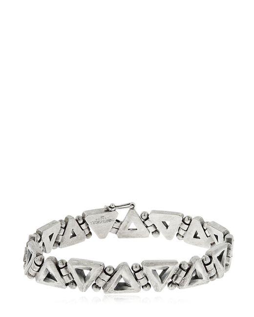 Northskull | Metallic Trigonum Chain Sterling Silver Bracelet for Men | Lyst