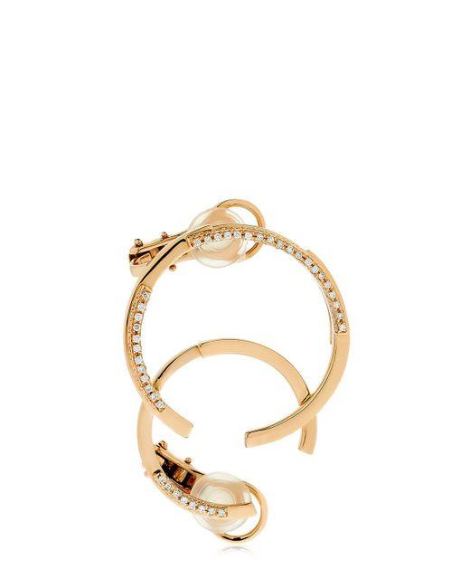 Dauphin | Metallic Volume Rose Gold & Diamond Mono Earring | Lyst