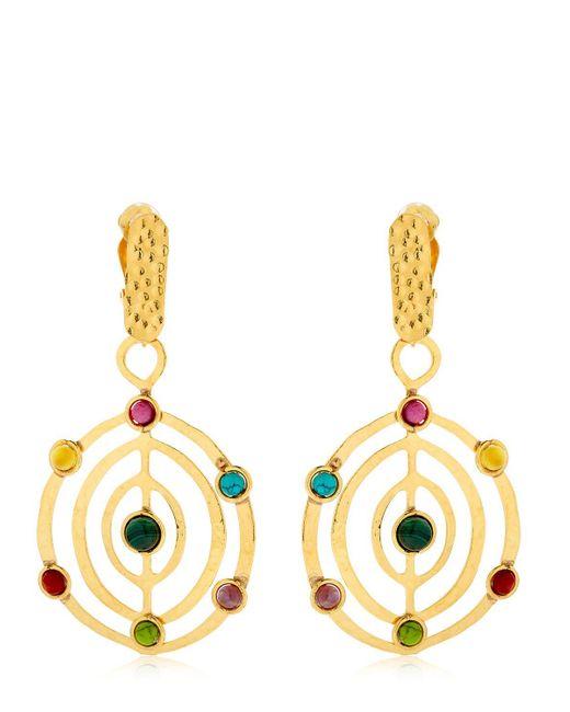 Sylvia Toledano | Metallic Éllipse Stone Earrings | Lyst