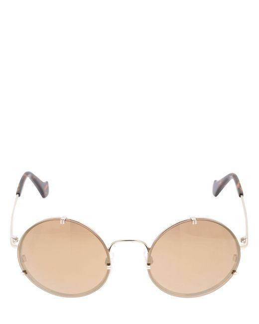 Balenciaga   Brown Round Mirrored Sunglasses   Lyst