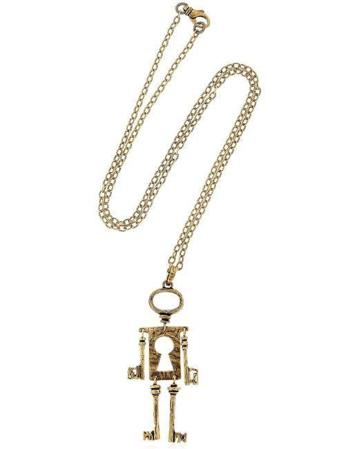 Alcozer & J | Metallic Chiave Mossa Pendant Necklace | Lyst