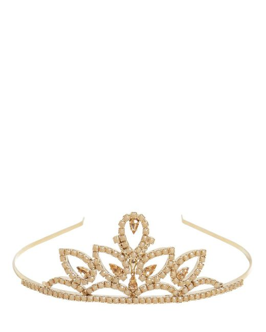 RED Valentino | Metallic Crystals Embellished Tiara | Lyst