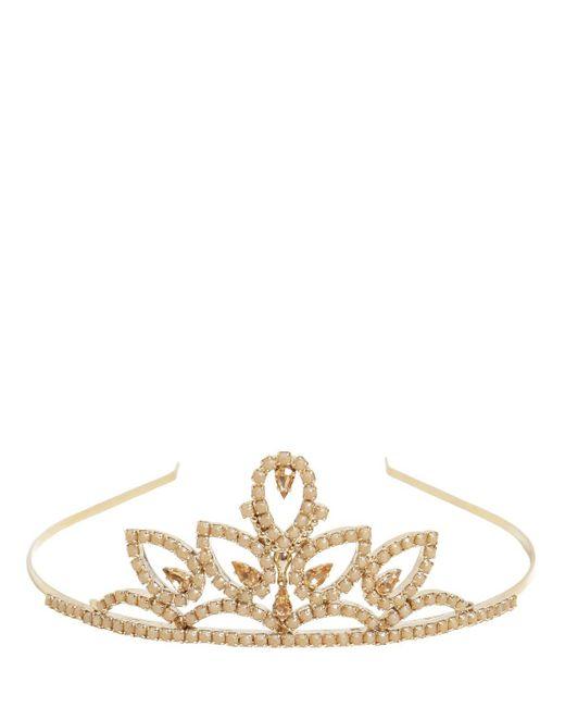 RED Valentino - Metallic Crystals Embellished Tiara - Lyst