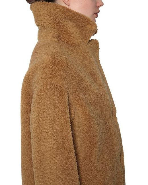 3a3cd649c Lyst - STAND Camille Cocoon Faux Fur Coat in Natural
