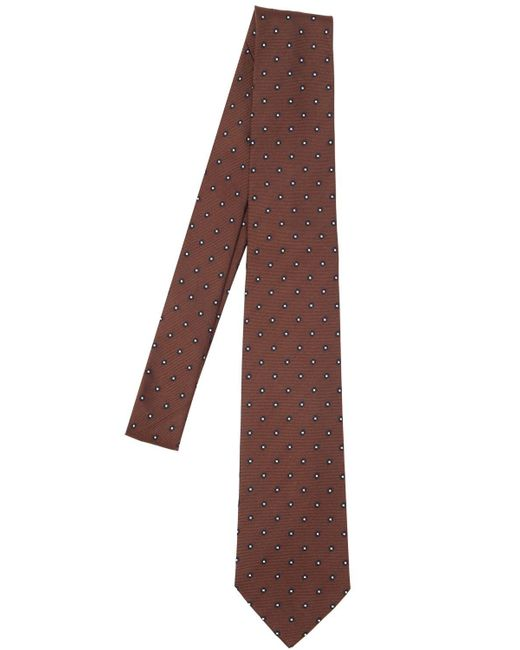 Tagliatore - Brown Corbata De Seda Con Flores 7.5cm for Men - Lyst