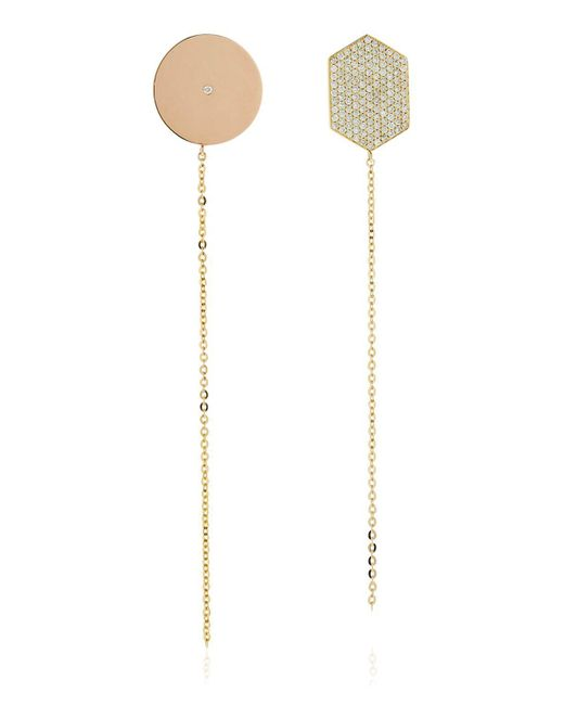 Lito - Metallic Infinity Diamond Shape Earrings - Lyst