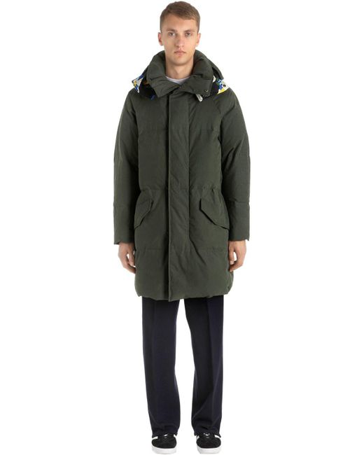 Etudes Studio - Green Hooded Cotton & Nylon Down Jacket for Men - Lyst
