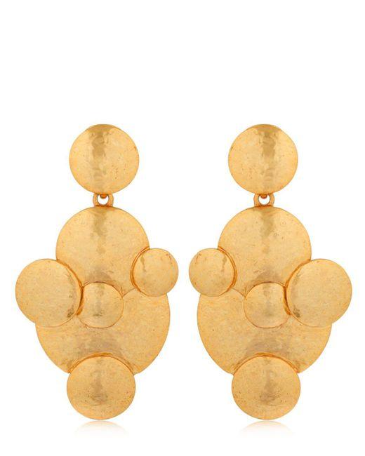 Oscar de la Renta - Metallic Fish Scale Drop Earrings - Lyst
