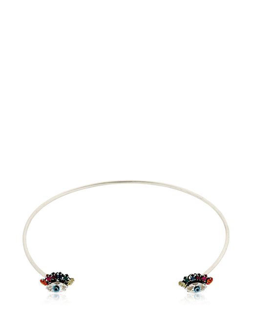 Anton Heunis - Metallic Rainbow Eyes Rigid Choker For Lvr - Lyst