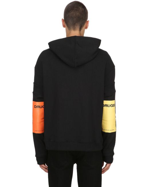Raf Simons - Black Cotton Jersey Sweatshirt W/ Sleeves for Men - Lyst