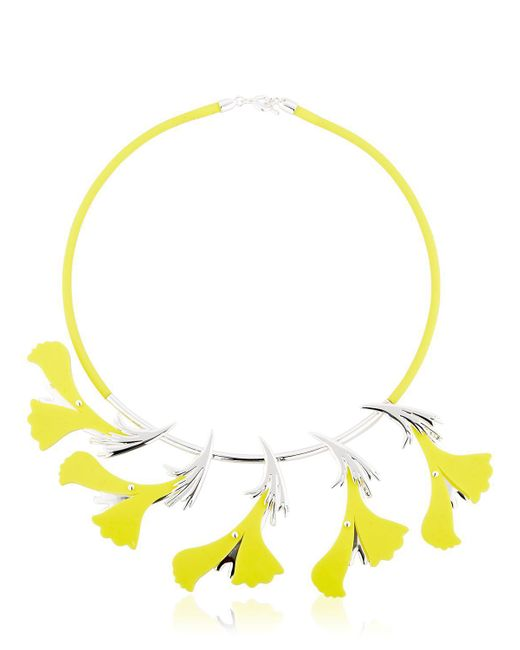 EK Thongprasert | Yellow Silicone Flower Necklace | Lyst