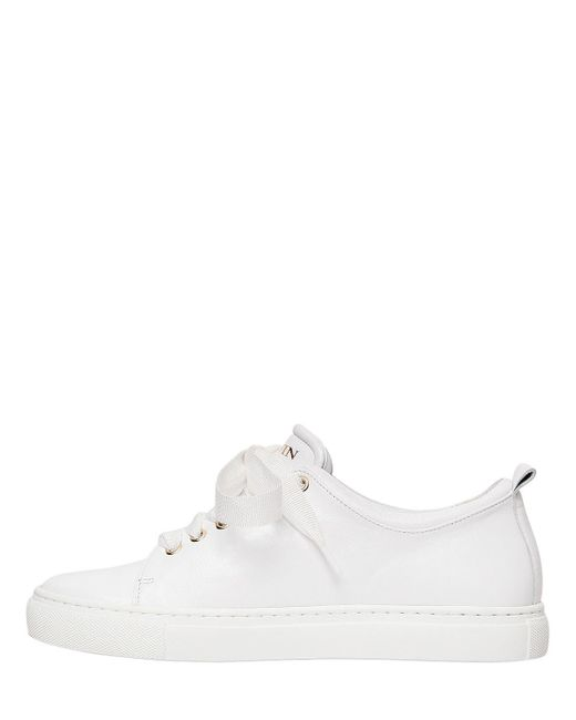 Lanvin 20MM PERFORATED LOGO LEATHER SNEAKERS X2hGh
