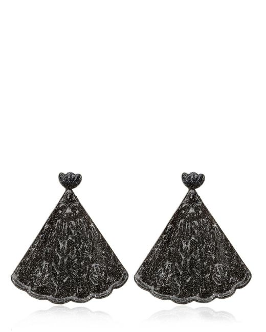 Mariah Rovery | Black Brinco Leque Earrings | Lyst
