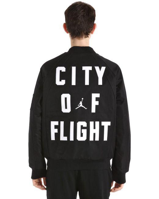 Nike - Black Air Jordan Wings Ma-1 Bomber Jacket for Men - Lyst