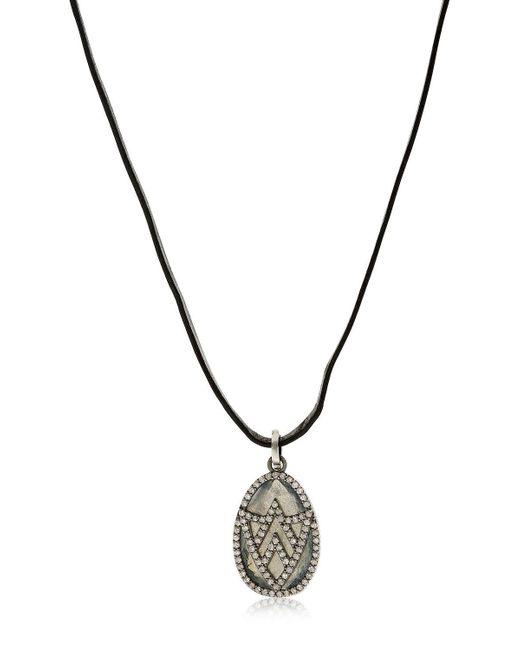 Jade Jagger | Black Chevron Shield Diamond Pendant Necklace | Lyst