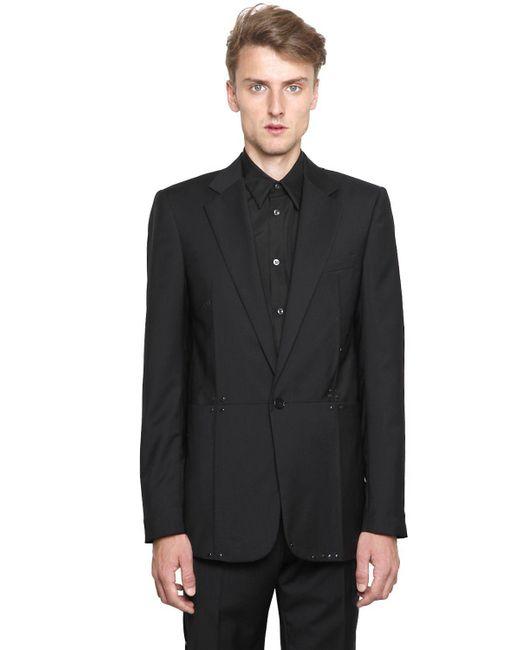 Maison Margiela | Black Studded Wool Poplin Jacket for Men | Lyst