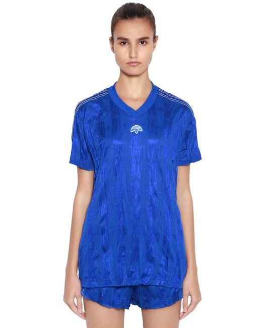 Alexander Wang - Blue Aw Oversized Wrinkled Jacquard T-shirt - Lyst