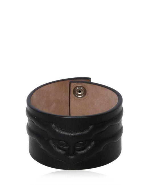 Alexander McQueen - Black Rib Cage Leather Bracelet for Men - Lyst