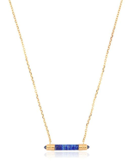 W. Britt - Metallic Bar Lapis Pendent for Men - Lyst
