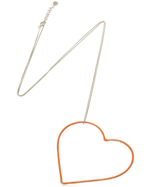 Seeme | Multicolor Untf Big Orange Heart Necklace | Lyst