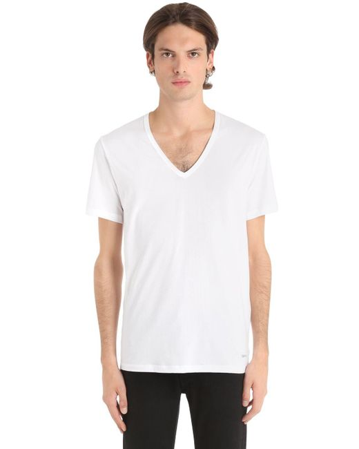 Calvin Klein | White T-shirt for Men | Lyst