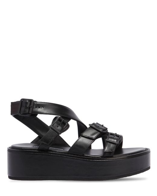 Ann Demeulemeester - Black 55mm Leather Wedges - Lyst