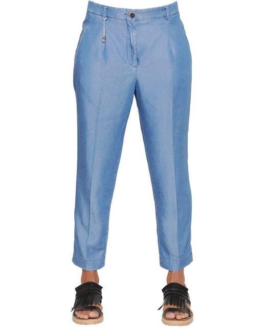 Incotex - Blue Luna Light Chambray Denim Pants - Lyst