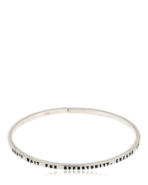 GIOIELLI CORSINI | Metallic Don't Wait For Opportunity Bracelet | Lyst