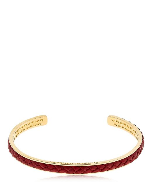 MARCO DAL MASO - Metallic Braided Leather & Silver Bracelet - Lyst