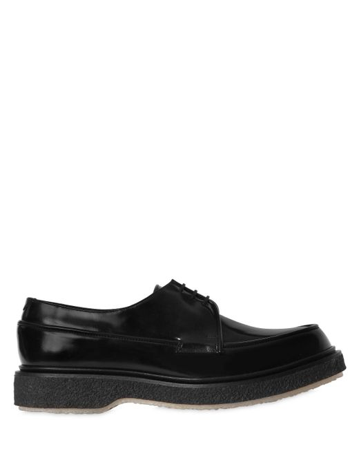 Adieu - Black Polished Leather Lace-up Shoes for Men - Lyst