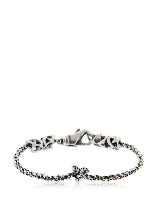 Emanuele Bicocchi - Metallic Knot Silver Chain Bracelet for Men - Lyst