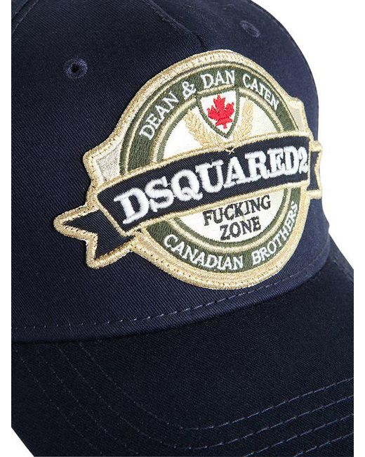0a4cf493682 ... DSquared² - Blue Casquette En Coton Avec Patch Logo for Men - Lyst ...