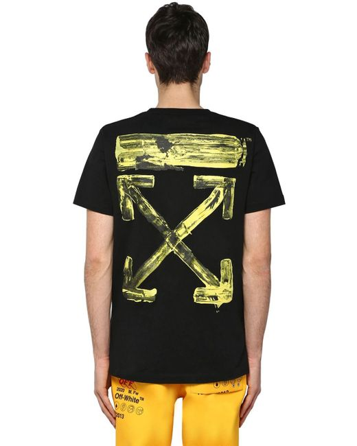 Off-White c/o Virgil Abloh Black Oversize Printed Cotton Jersey T-shirt for men