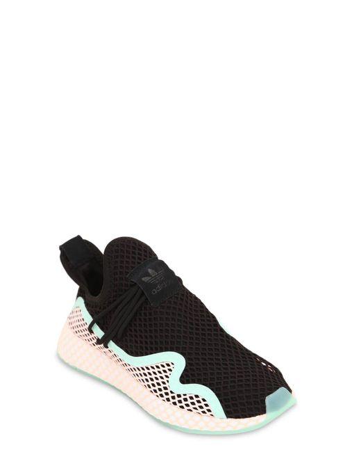 4d689d80dd50 ... Adidas Originals - Black Deerupt New Runner Sneakers for Men - Lyst ...