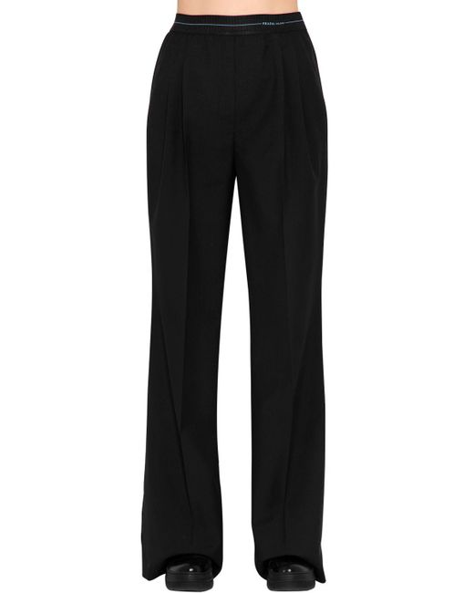Prada - Black Wool & Mohair Pants - Lyst