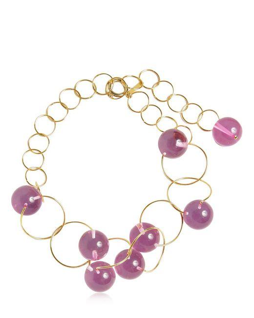 Marni   Pink Multi Spheres Chocker Necklace   Lyst