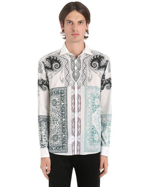 Etro - Multicolor Hemd Aus Baumwollmusselin Mit Druck for Men - Lyst