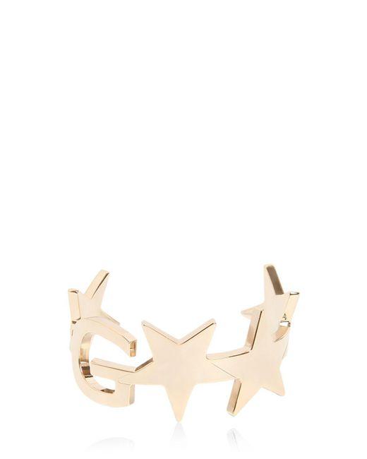 Givenchy | Metallic New Logo & Star Brass Cuff Bracelet | Lyst