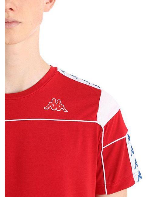 ad7b61d5df1b ... Kappa - Red Logo Tape T-shirt for Men - Lyst ...