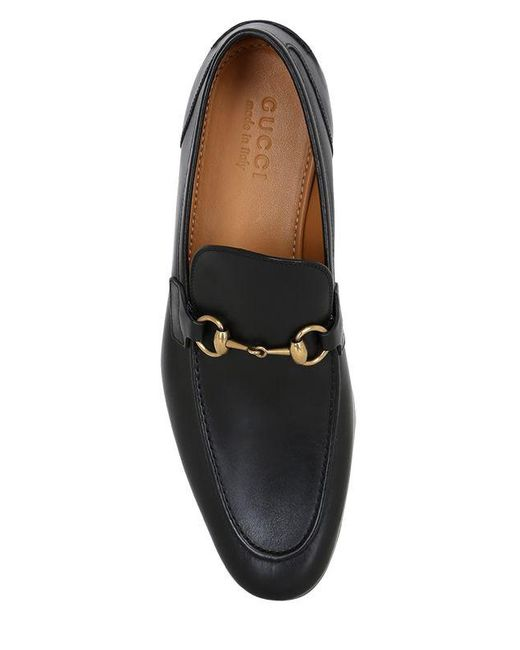 28851a822 ... Gucci - Black Jordaan Horsebit Leather Loafers for Men - Lyst ...