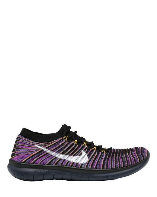 Nike - Black Lab Free Rn Motion Flyknit Sneakers - Lyst