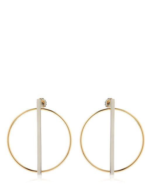 Eshvi | Metallic Rebel Circle & Bar Earrings | Lyst