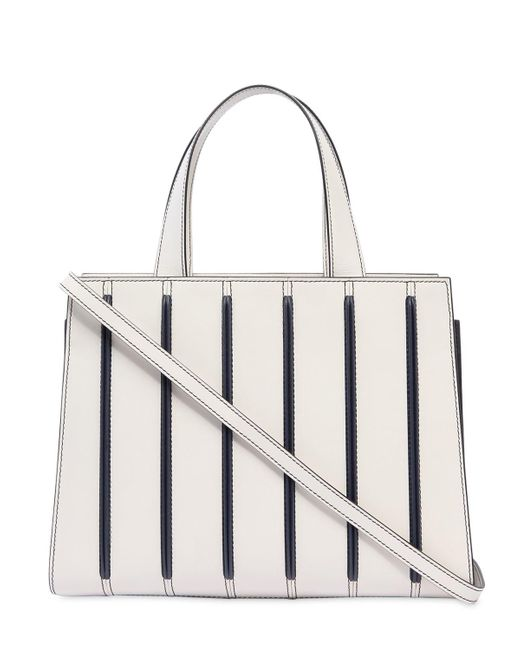 Max Mara SMALL STRIPED LEATHER TOP HANDLE BAG husednxYy