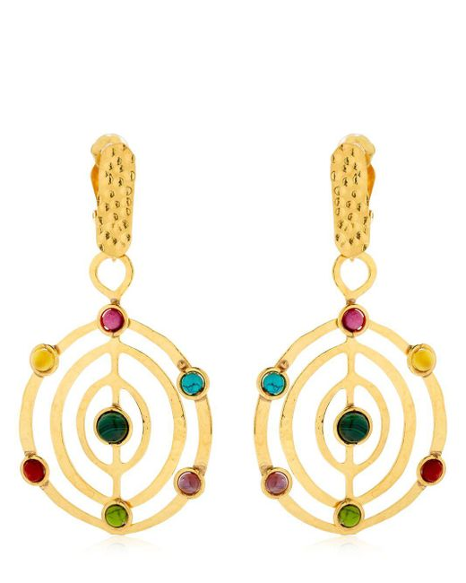 Sylvia Toledano - Metallic Éllipse Stone Earrings - Lyst
