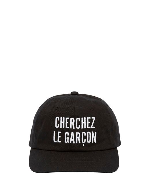 Etudes Studio - Black Garcon Embroidered Cotton Baseball Hat - Lyst