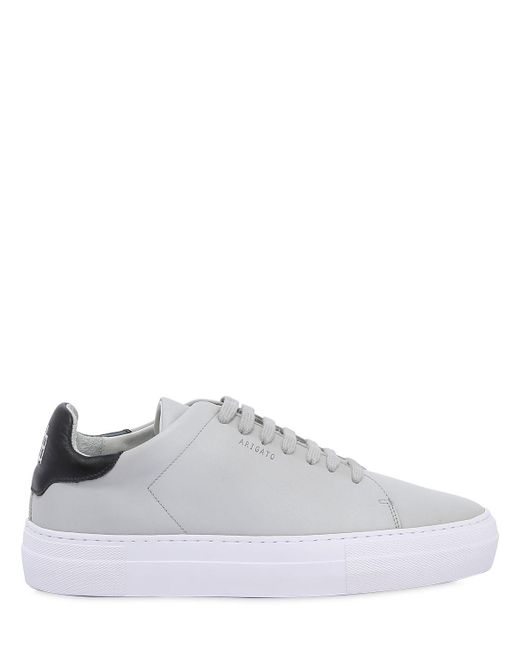 Axel Arigato - Gray Clean 360 Matte Leather Sneakers for Men - Lyst