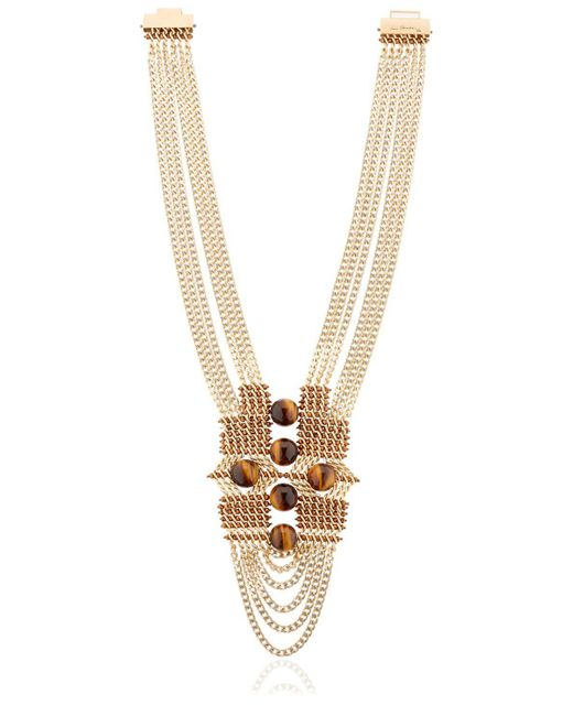 Lucia Odescalchi - Metallic Chapter Two Tiger's Eye Necklace - Lyst