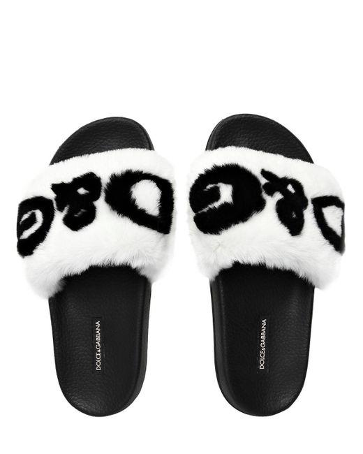 Dolce & Gabbana Fur sliders Yxk3iIXaH0