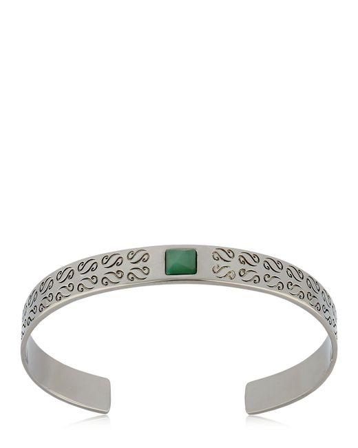 MARCO DAL MASO | Metallic Ara Cuff Bracelet With Aventurine for Men | Lyst